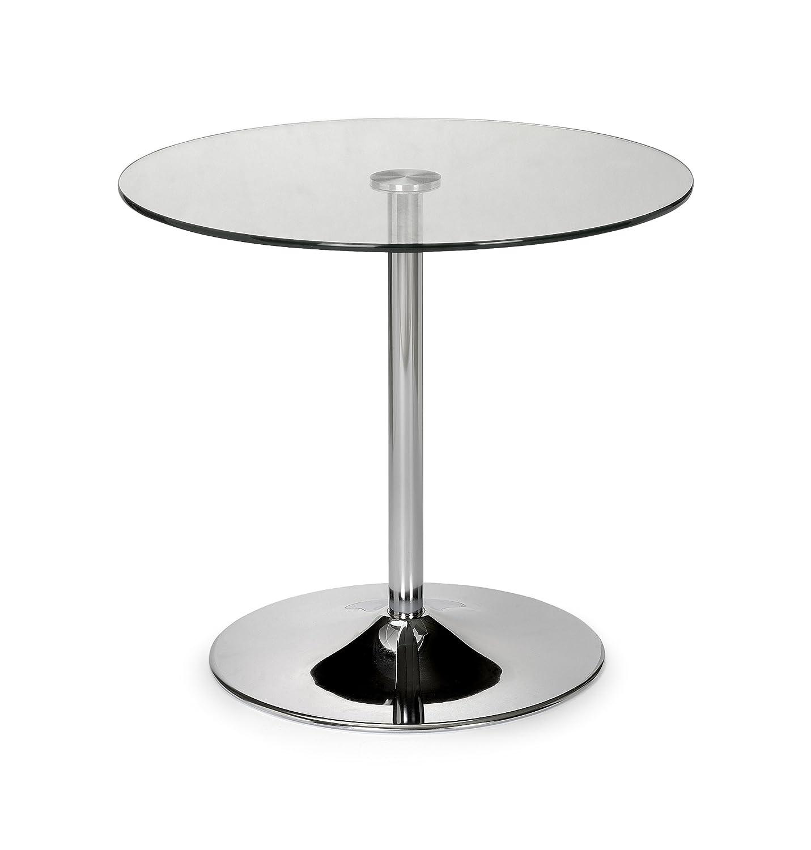 Julian Bowen Kudos Glass Pedestal Table Guéridon  métal