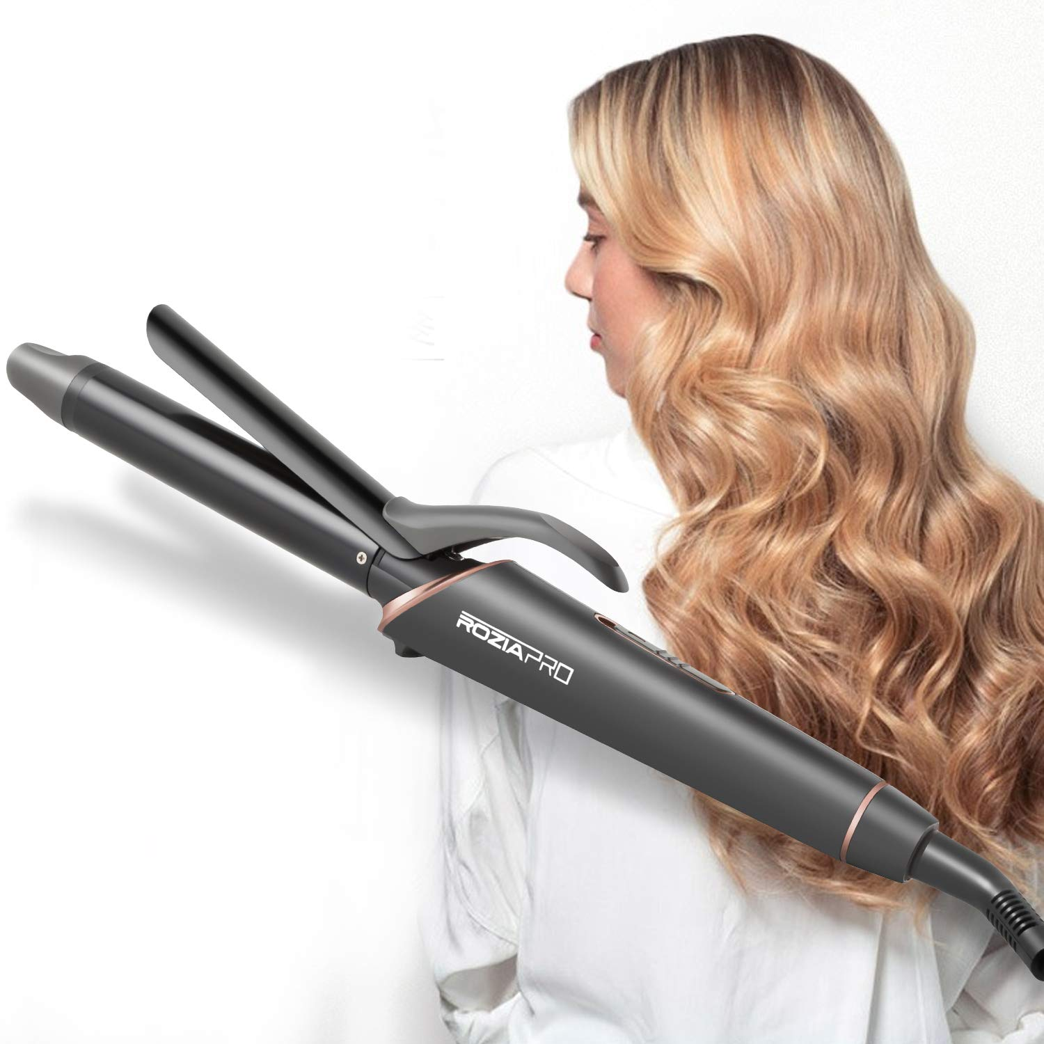 Curling Iron 1 Inch Hair Curling Iron Wand, Ceramic Tourmaline Coating Curling Wand