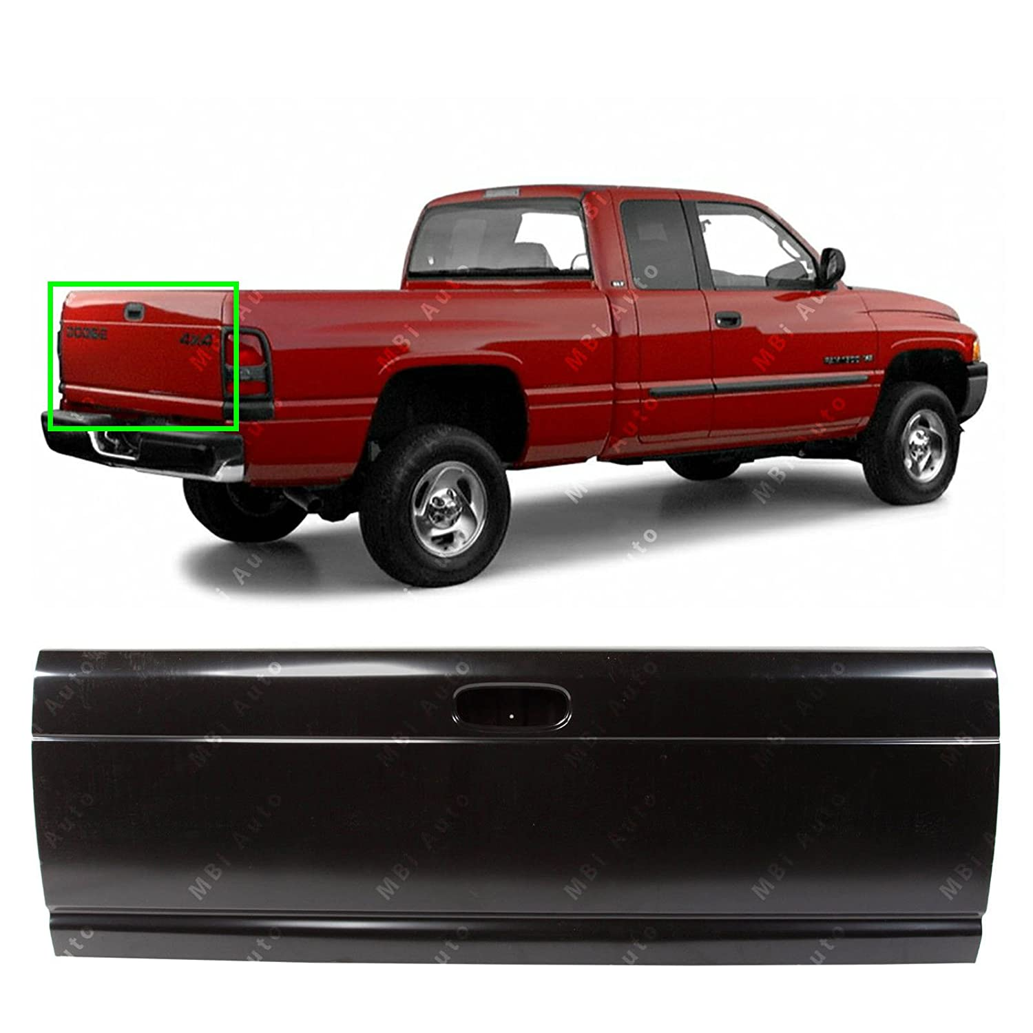 MBI AUTO - Primered Steel, Tailgate Shell for 1994-2002 Dodge RAM 1500 2500 3500 Pickup, CH1900112