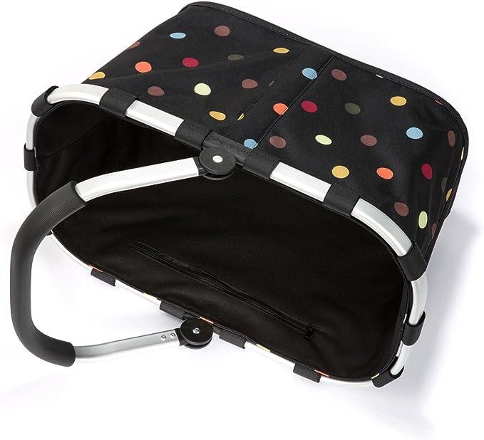 BK7009 Cesta de la Compra Reisenthel Carrybag dots // negro con puntos multicolores