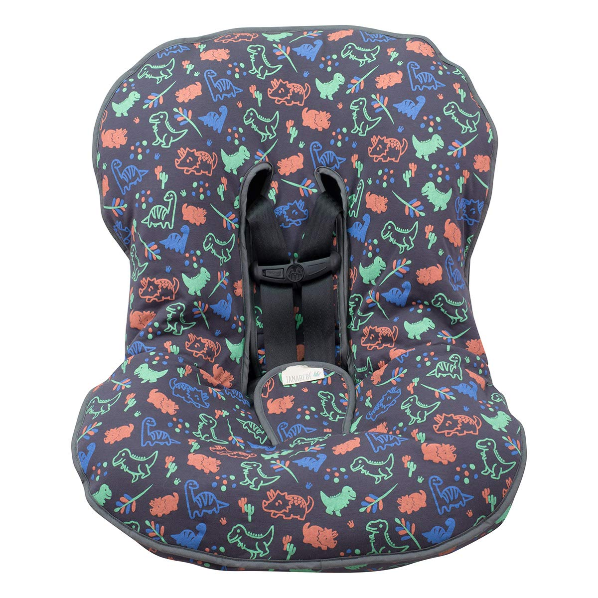 JANABEBÉ Universal Padded Cover Liner for Baby Carriers and CAR SEAT (Maxi COSI MICO, CHICCO, BRITAX, ETC) (Happy Dino)