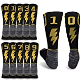 KitNSox Soccer Number Socks for Men, Unisex