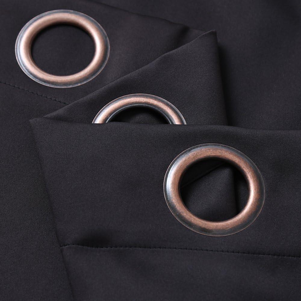 Dark Grey Rose Home Fashion RHF Privacy Room Divider Curtain 8.5ft 8.5/'x9/'
