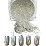 Vrenmol 1g/Box Holographic Laser Powder Nail Glitter Rainbow Chrome Nail Powder Manicure Pigment