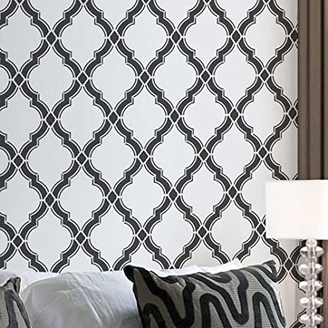 Agora Wall Stencil Pattern Large Beautiful Stencils For Diy Home