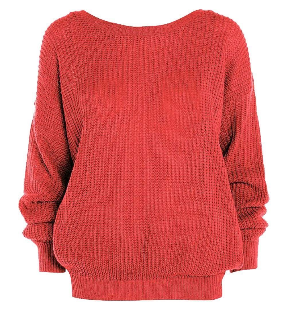 ccc07ea4f ZEE FASHION Ladies New Plain Chunky Knit Loose Baggy Oversized ...