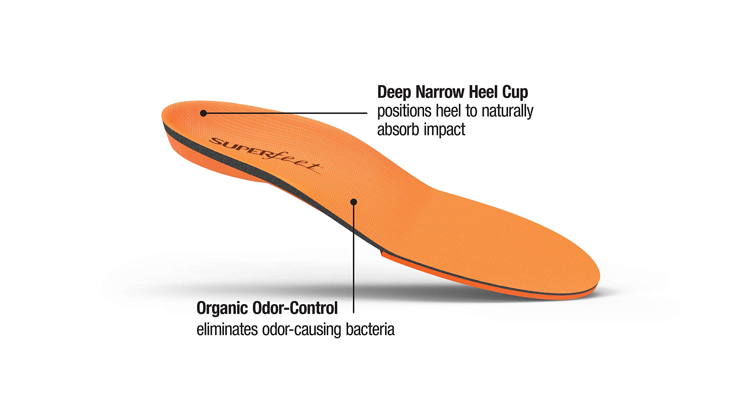 Superfeet ORANGE Insoles, High Arch Support and Forefoot Cushion Orthotic Insole for Anti-fatigue, Unisex, Orange, XXX-Large/H: 16.5+ Wmns/15.5 - 17 Mens by Superfeet (Image #3)