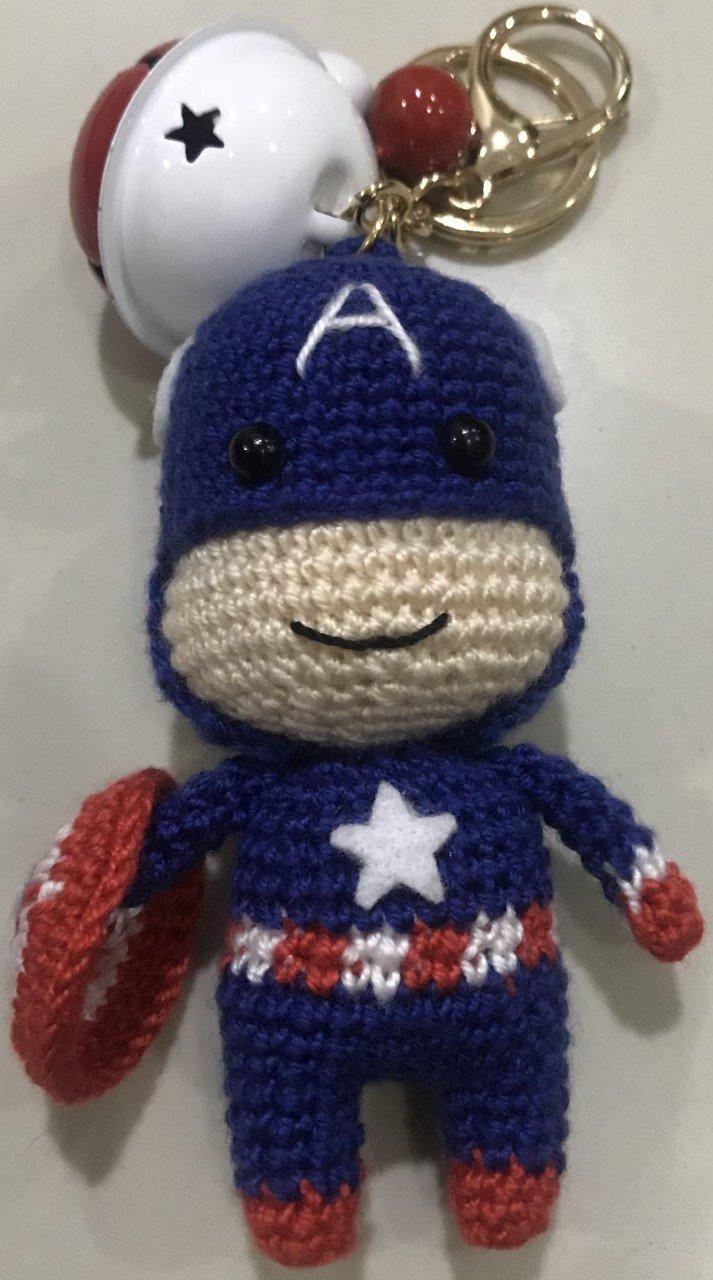Amazon Ssaito Superhero Crochet Stuffed Doll Captain America