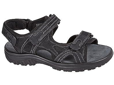 9914060c8fe Mens Black Real Leather Adjustable Touch Fasten Comfort Gladiator Summer Sandals  Shoes Size 6-12