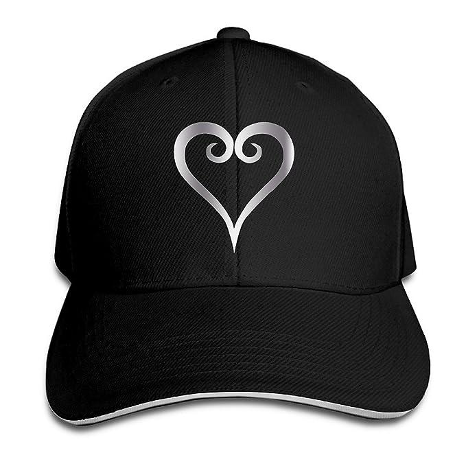 18d83fda378 Amazon.com  KMRR Kingdom Hearts Logo Platinum Style Flex Baseball Cap Black  (7433012580070)  Books