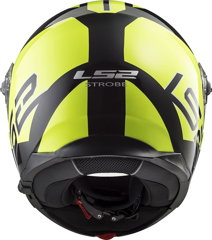 61-62cm LS2 FF325 Strobe Zone Cascos modulares de Moto DVS Motocicleta Bicicleta HI-Vis Amarillo XL