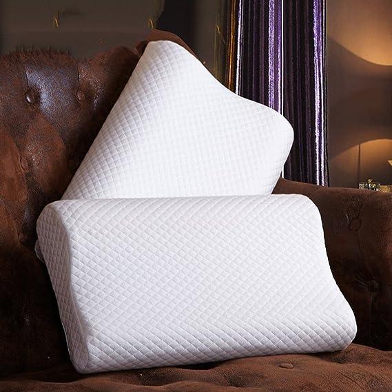 eglaf memoria espuma almohada/alivio del dolor - resistente al polvo y ácaros/hipoalergénico cuello apoyo almohada/ortopédica diseño para cómodo y saludable ...