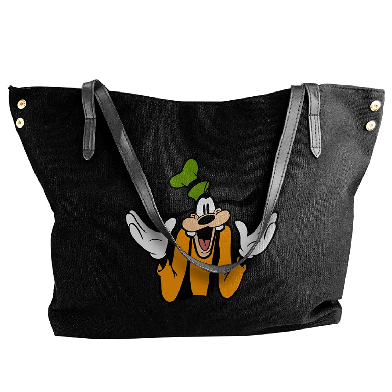 Goofy Cartoon Dog Bags For Women Black