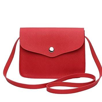 029bdb58c Bolso Bandolera Mujer Pequeña de Piel Bolsos de Hombro Colores para Niña  por ESAILQ DP: Amazon.es: Equipaje