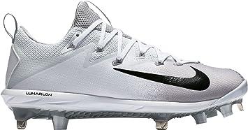 Nike Men's Lunar Vapor Ultrafly Elite Metal Baseball Cleats (White/Black, 7  D