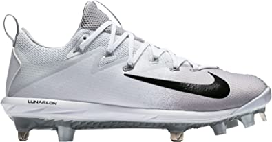 Nike Men's Lunar Vapor Ultrafly Elite Metal Baseball Cleats (White/Black, 7  D