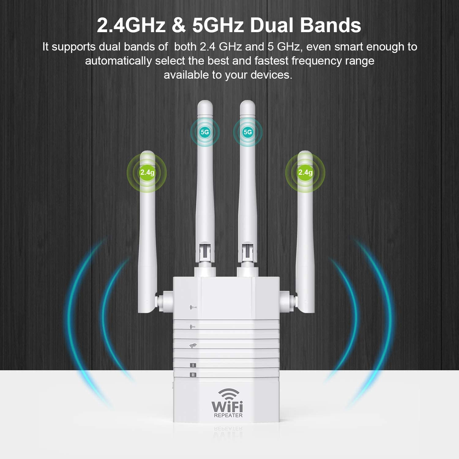 AC1200-5G, White WiFi Range Extender SuperBooster Repeater for The Houes