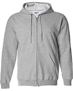 213dc2b0 Gildan Men's Fleece Zip Hooded Sweatshirt at Amazon Men's Clothing ...