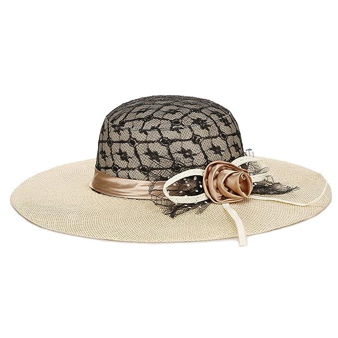 CHENGXIAOXUAN Sombrero Señora Verano Grandes Aleros Sombreros Viajes ...