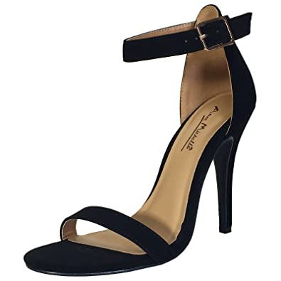 374aeb0ef7b Anne Michelle Women s Single Band Dress Heel Sandal with Ankle Strap
