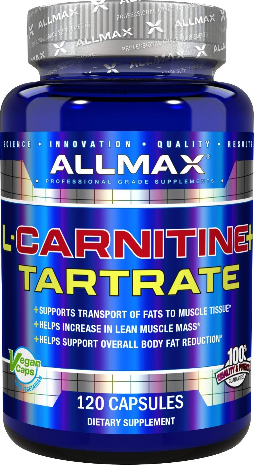 ALLMAX Nutrition L-Carnitine Tartrate, 120 Capsules