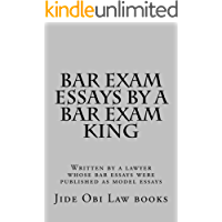 Bar Exam Essays By A Bar Exam King: Jide Obi law books for the best and brightest