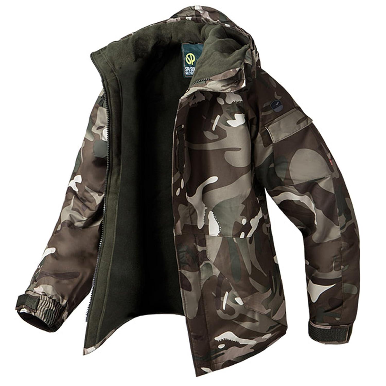 Southplay Herren Camouflage mit Kapuze Wasserdichte Winter Snowboard-Camo Braun