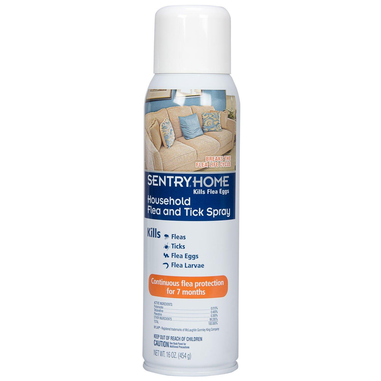 SENTRY Home Household Flea and Tick Spray, 16 oz