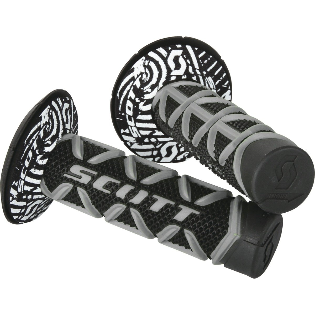 Donut schwarz//weiss Scott Diamond MX Motorrad Griffe inkl