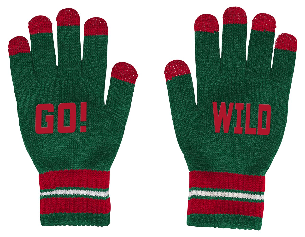 Outerstuff NHL Minnesota Wild Youth Boys Touch Screen Gloves, 1 Size, Dragon Green