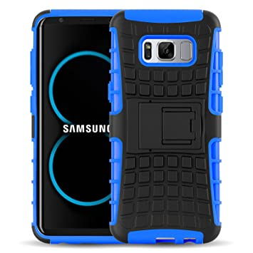 Funda Galaxy S8, JAMMYLIZARD Carcasa Militar Alta Resistencia [ Alligator ] Heavy Duty Case Back Cover Para Samsung Galaxy S8, AZUL