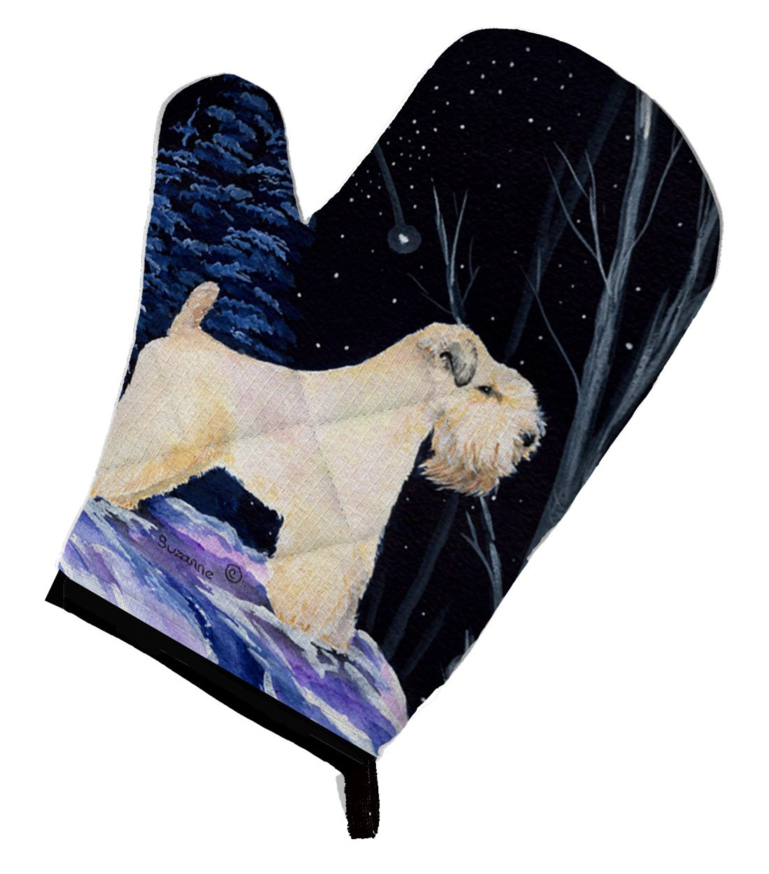 Multicolor 12 by 8.5 Carolines Treasures SS8386OVMT Starry Night Wheaten Terrier Soft Coated Oven Mitt