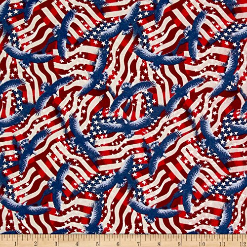 Santee Print Works Made in the USA II Flags Fabric by the Ya