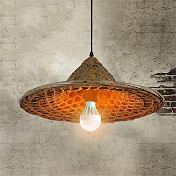 Chinese bamboo hats retro lampshade hat lighting led rattan chinese bamboo hats retro lampshade hat lighting led rattan chandelier farmhouse pot shop restaurant restaurant chandelier mozeypictures Images