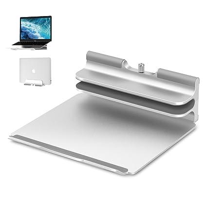 Seenda - Soporte vertical de aluminio para ordenador portátil, para MacBook, ordenadores portátiles Apple