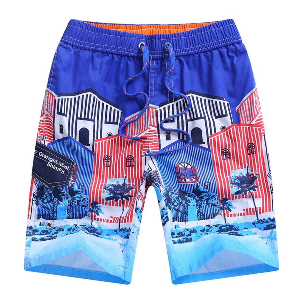 Echinodon Jungen Sweatshorts Badeshorts 100% Baumwolle Strand Urlaub Shorts mit Aufdruck