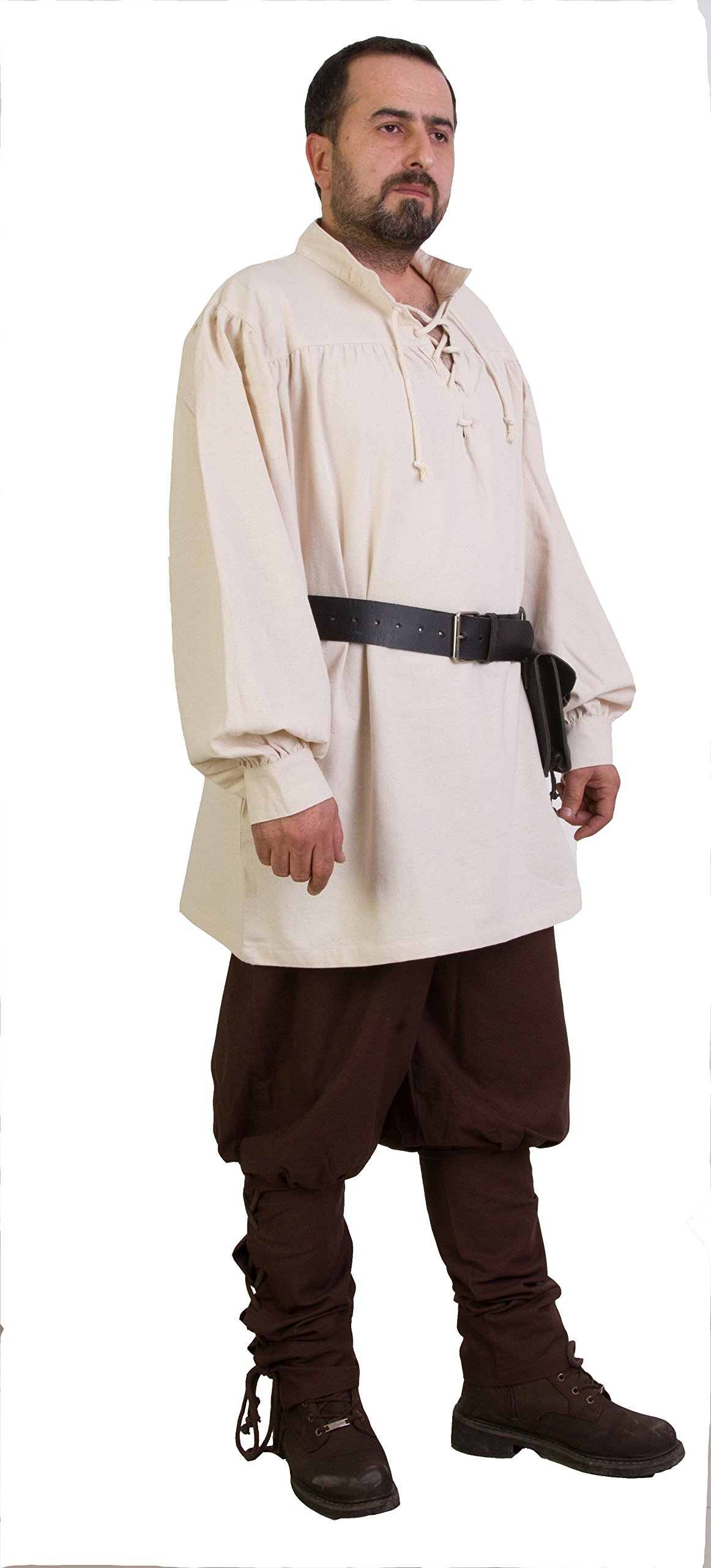 byCalvina - Calvina Costumes ERMES Medieval Viking LARP Pirate Cotton Man Shirt - Made in Turkey-Nat-2XL by byCalvina - Calvina Costumes (Image #5)