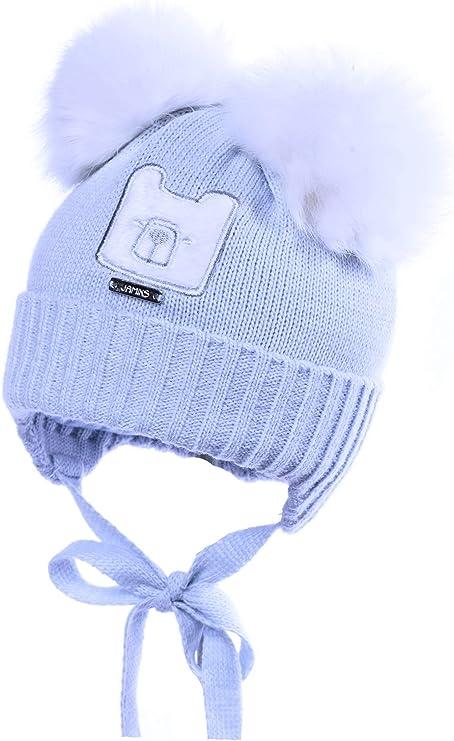 Gorro de punto para recién nacido, de algodón puro, para bautizo, color azul, 0 3 6 9 meses azul azul Talla:Newborn 38cm: Amazon.es: Bebé