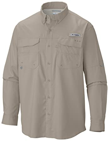 279ff69a1f7 Columbia Sportswear Blood and Guts III Long Sleeve Woven Shirt, Fossil,  Small