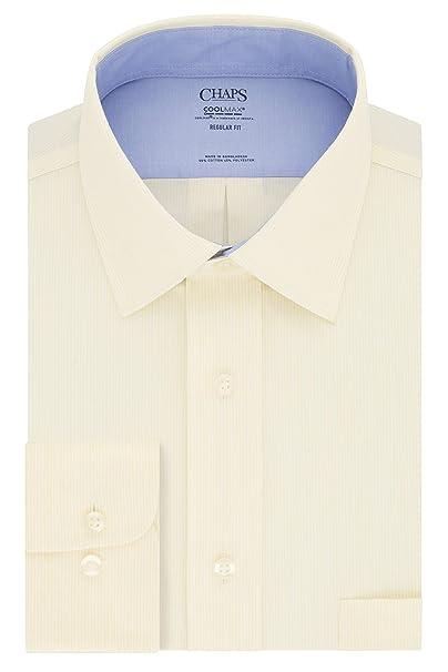 Chaps Dress Shirt Regular Fit Stretch Collar Stripe Camisa de ...