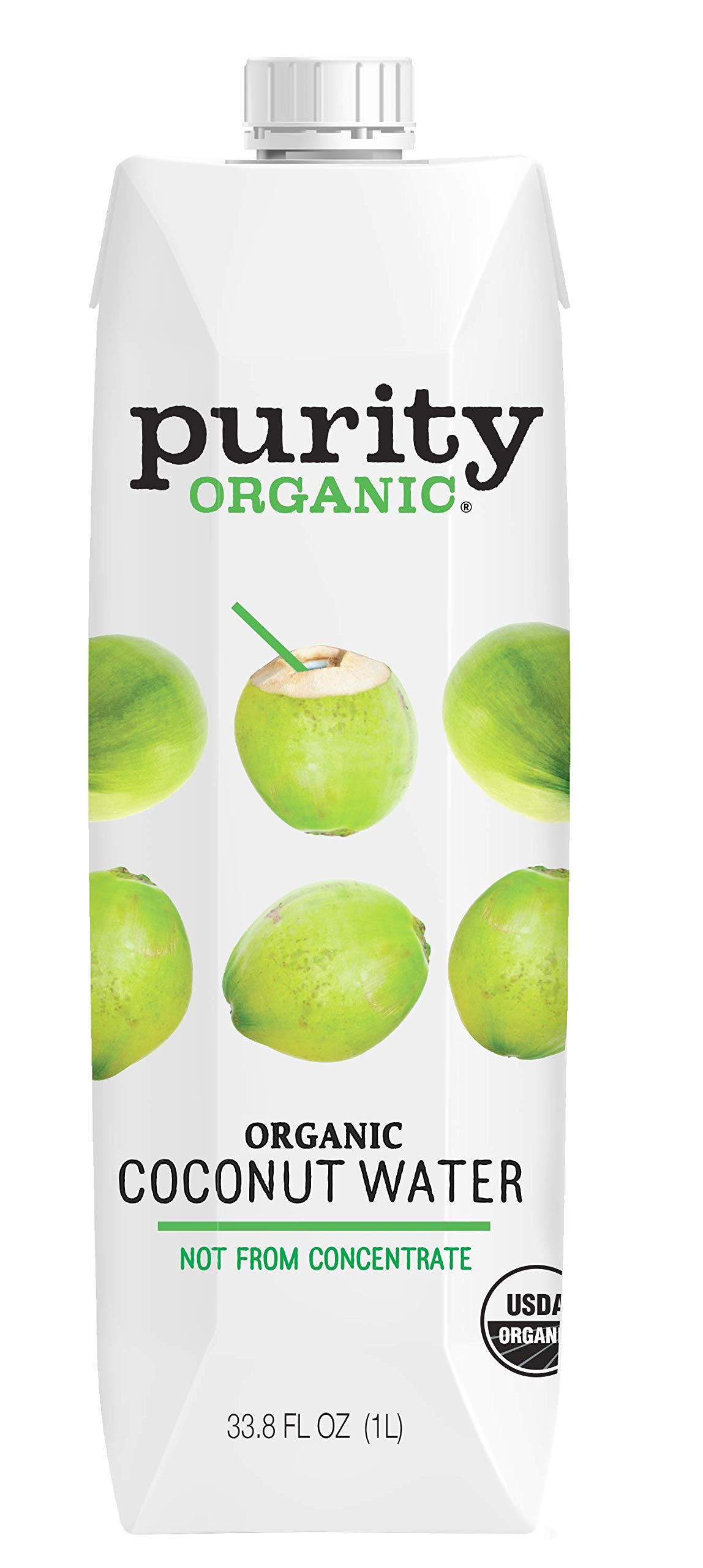 Purity Organics, Coconut Water, Og2, Pack of 12, Size - 33.8 FZ, Quantity - 1 Case