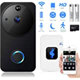 leegoal Video Doorbell, Wireless Smart Doorbell 720P HD WiFi Security Camera with 16G Card & 2 Batteries, Real-Time 2-Way Talk, Night Vision, PIR Motion Detection and App Control for iOS and Android