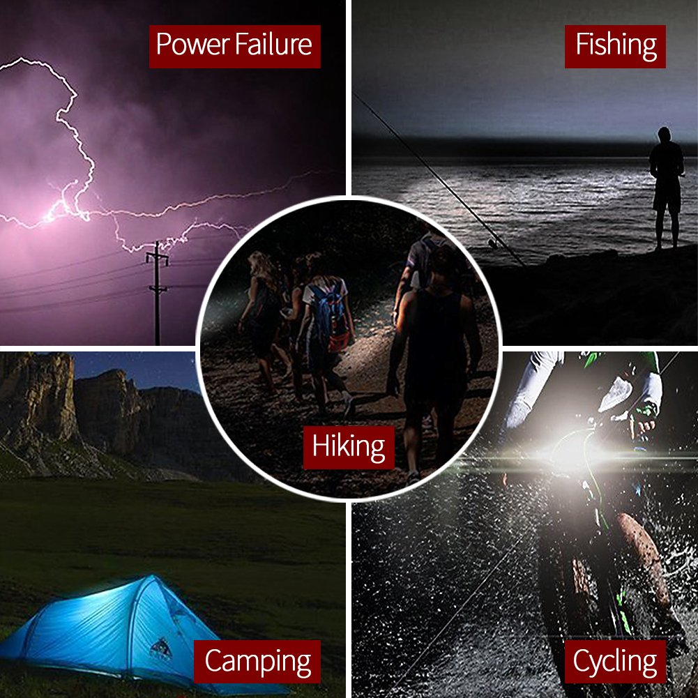 InkoTimes LED Flashlight - i1800S Powerful Waterproof Flashlight - Best for Home, Biking, Camping, Outdoor, Emergency (Batteries Not Included) by InkoTimes (Image #6)
