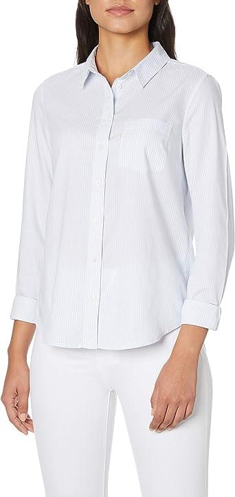 Levis - Camisa para Mujer con un Bolsillo en Color Azul xenón: Amazon.es: Ropa y accesorios