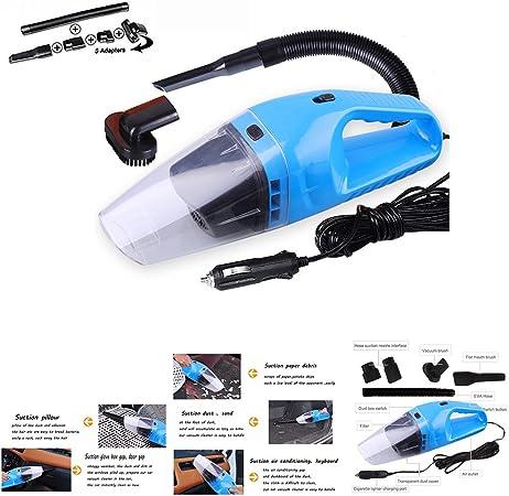 HHD – Aspirador de coche de mano, ultraportátil, con cable de alimentación para el encendedor, para pasar