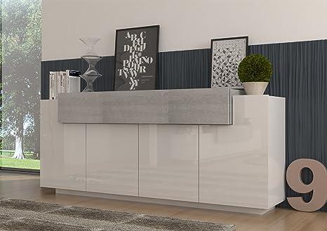 Credenza Moderna Di Design : Biella credenza madia moderna molto capiente lore design bianco