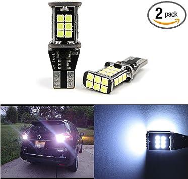 Projector LED Reverse Light Bulbs T15 912 921 906 for Nissan Maxima 2 pcs