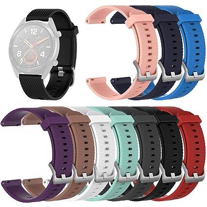 Yushiwu Banda de Reloj de Silicona,Smartwatch Pulsera de ...