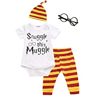 3Pcs/Set Baby Boy Girl Infant Snuggle this Muggle Rompers (3-6 Months)