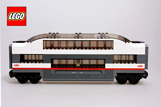 New LEGO City Passenger Train Buffet Car Food Carriage & Minifigure from 60197 Zabawki